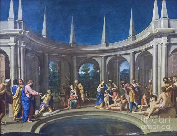 Capitoline Museums Art Print featuring the photograph The Probatic Pool By Lucio Massari by Roberto Morgenthaler