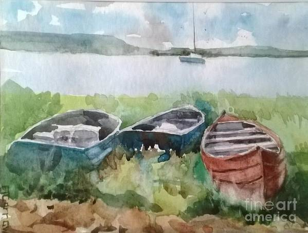 Landscape Art Print featuring the painting Wishing And Hoping by Elizabeth Carr