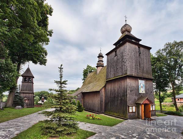 Poland Art Print featuring the photograph Wooden Church In Rabka Malopolska Poland by Frank Bach