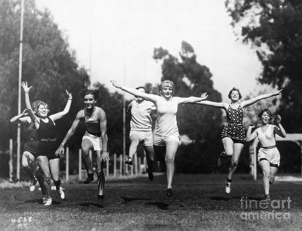 -sports- Art Print featuring the photograph Silent Film Still: Sports by Granger