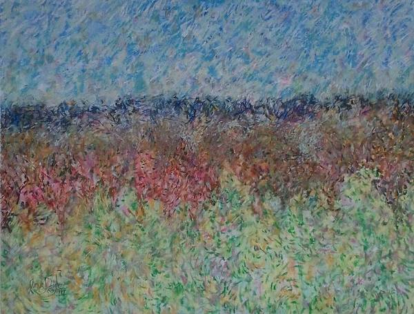 Landscape Art Print featuring the painting A Little Fog by James Daigle