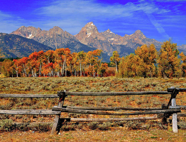 Horizontal Art Print featuring the photograph A Moment In Wyoming In Autumn by Jeff R Clow