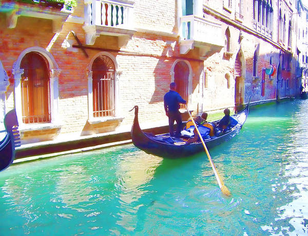 Venice Art Print featuring the photograph Afternoon In A Gondola by Christiane Kingsley