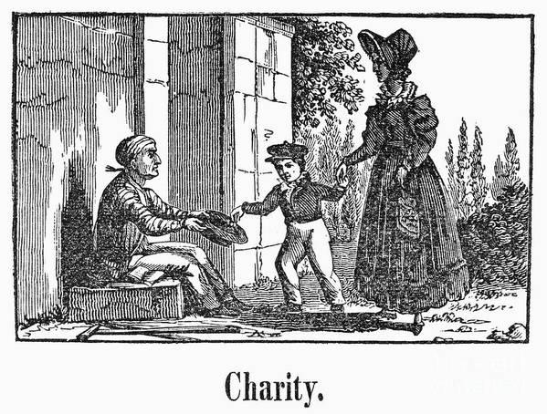 1830 Art Print featuring the photograph Beggar, C1830 by Granger