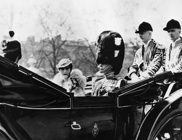 1930s Art Print featuring the photograph British Royal Family. Center, From Left by Everett
