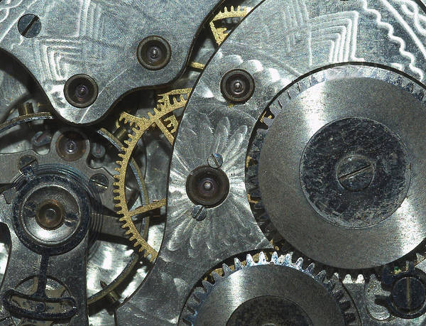 Horizontal Art Print featuring the photograph Close-up View Of Complex Clockwork by Calysta Images