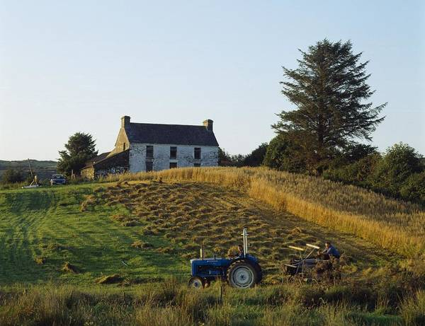 Agriculture Print featuring the photograph County Cork, Ireland Farmer On Tractor by Ken Welsh