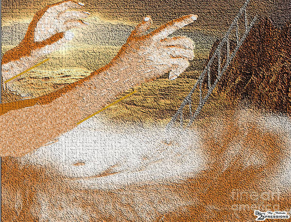 Landscape Art Print featuring the digital art Drowning In Sorrow by Belinda Threeths