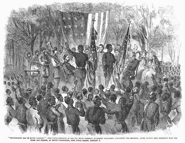 1863 Art Print featuring the photograph Emancipation, 1863 by Granger