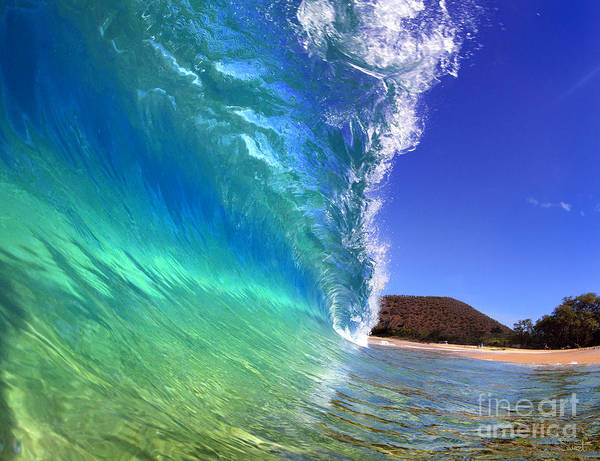 Emerald Art Print featuring the photograph Emerald Wave by Michael Swiet