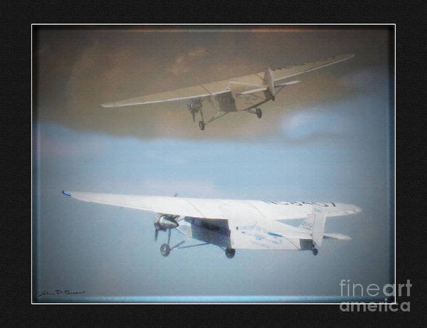 Ford Trimotor Art Print featuring the painting Ford Trimotor by John Breen