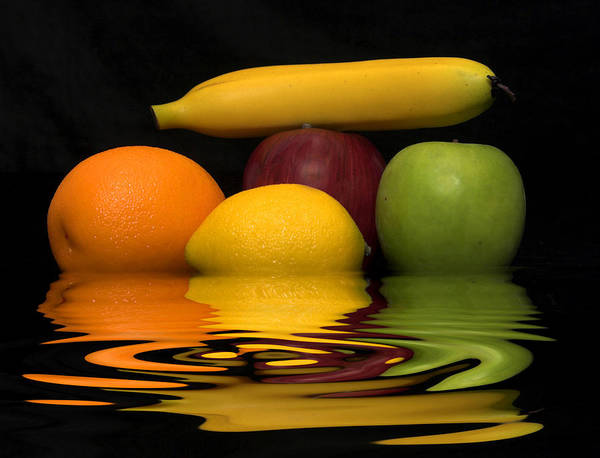 Fruit Art Print featuring the photograph Fruity Reflections by Cindy Haggerty