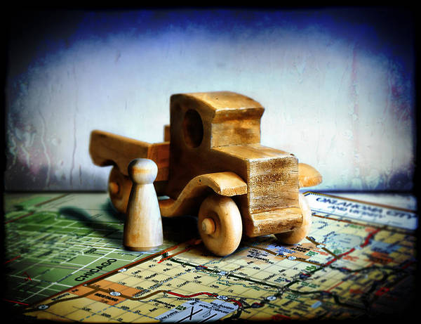 Toy Truck Art Print featuring the photograph Gone Truckin by Adam Vance