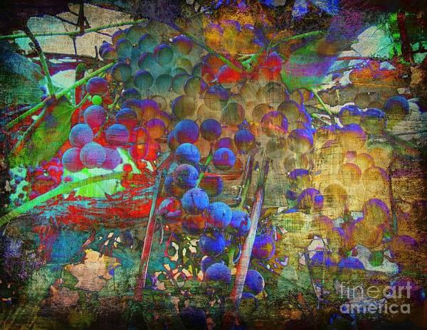 Grape Art Print featuring the mixed media Grape by Irina Hays