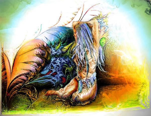 Garden Art Print featuring the painting In The Garden by Adam Vance