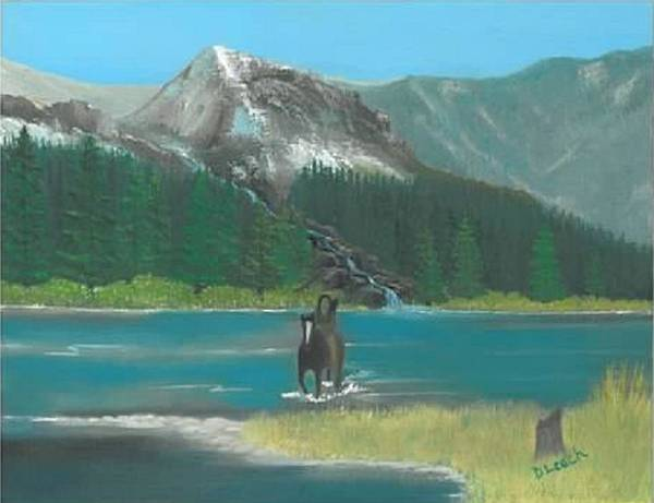 Cowboy Art Art Print featuring the painting Indian River by Donna Leach