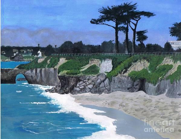 its Beach Art Print featuring the painting Its Beach Santa Cruz Ca by Teri Naomi