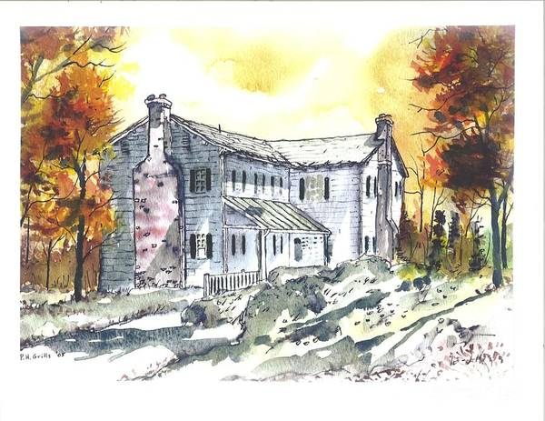 Mansion Art Print featuring the painting Kilgore Lewis Home by Patrick Grills
