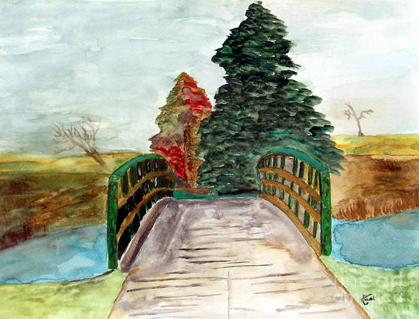 Nature Art Print featuring the painting Natures Pathway by Angela Loya