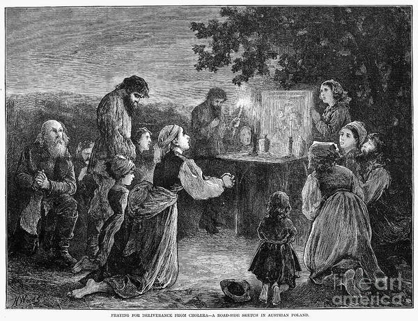 1873 Art Print featuring the photograph Poland: Cholera, 1873 by Granger