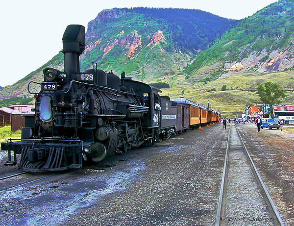 Steam Engine Art Print featuring the photograph Silverton Train by Walt Jackson