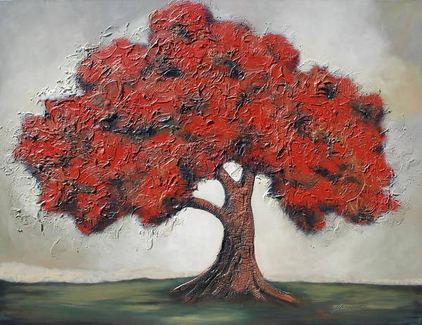 Tree Art Print featuring the painting Solitude by Lori McPhee