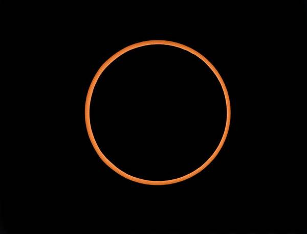 Solar Eclipse Art Print featuring the photograph The Annular Solar Eclipse Of 10/may/1994 by Dr Fred Espenak