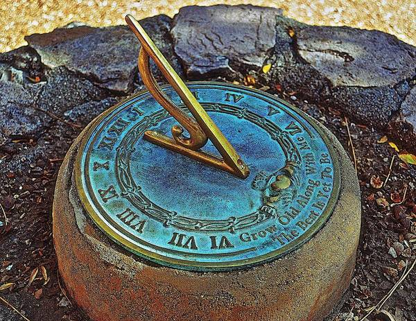 Sundial Art Print featuring the photograph Grow Old With Me by Katherine Halstead