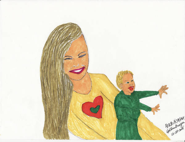 Mother Art Print featuring the painting Love by Golden Dragon