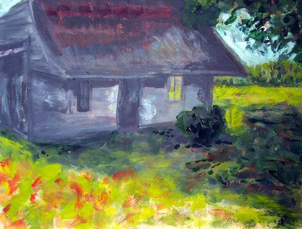 Country Art Print featuring the painting Pamlico County Shed by Rebecca Merola
