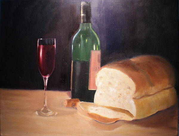 Wine Art Print featuring the painting Untitled by Toni Berry