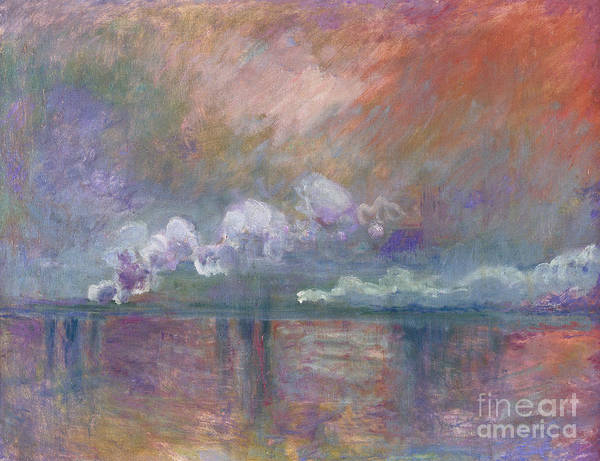 Charing Cross Bridge Print featuring the painting Charing Cross Bridge by Claude Monet