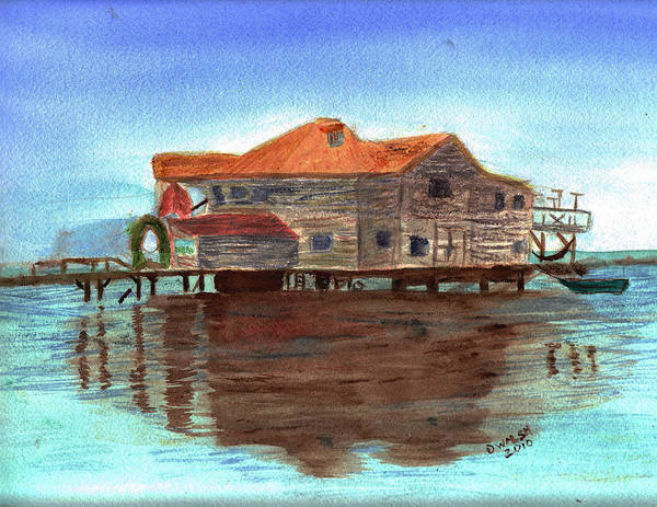 Water Art Print featuring the painting West End Roatan by Donna Walsh
