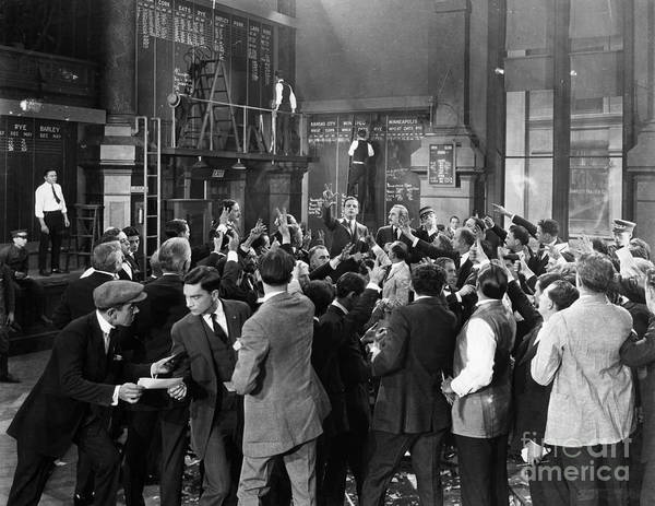 -crowds- Art Print featuring the photograph Silent Film Still: Crowds by Granger