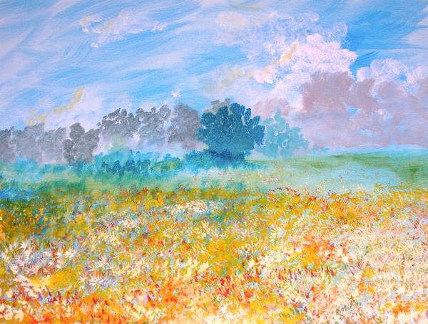 New Artist Art Print featuring the painting A Golden Afternoon by J Bauer