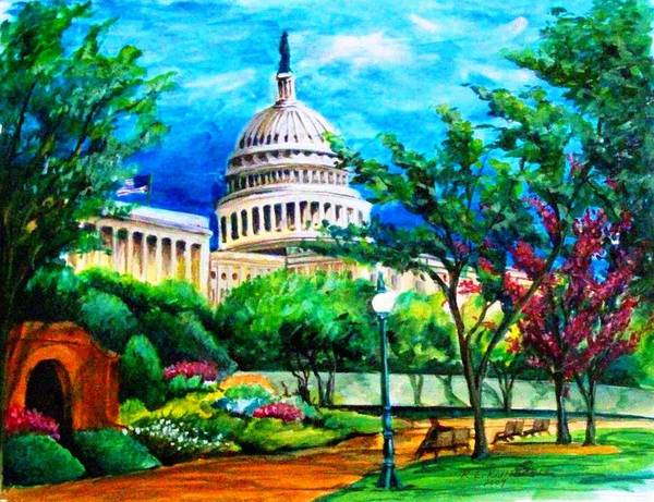 Capital Art Print featuring the painting A New Begining by Richard Klingbeil