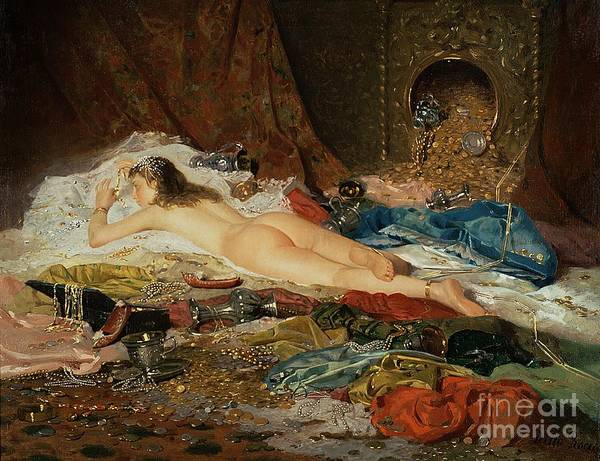 Wealth Art Print featuring the painting A Wealth Of Treasure by Della Rocca