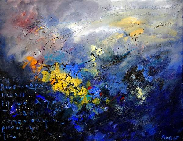Abstract Art Print featuring the painting Abstract 970208 by Pol Ledent
