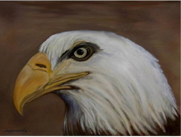 Bird Art Print featuring the painting American Bald Eagle by June Pressly