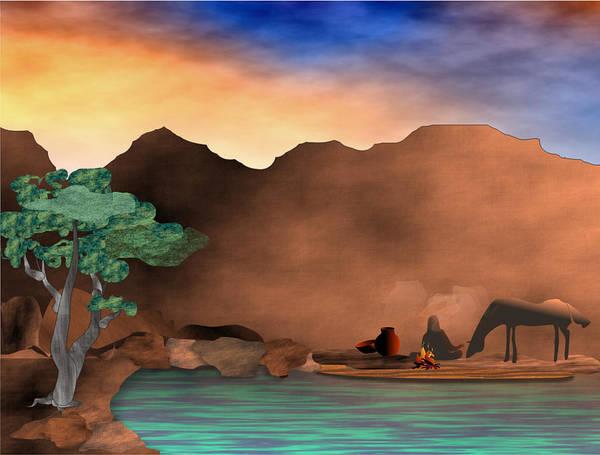 Arizona Art Print featuring the digital art Arizona Sky by Arline Wagner