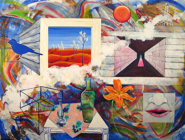 Landscape Art Print featuring the painting Be Here Now by Rollin Kocsis