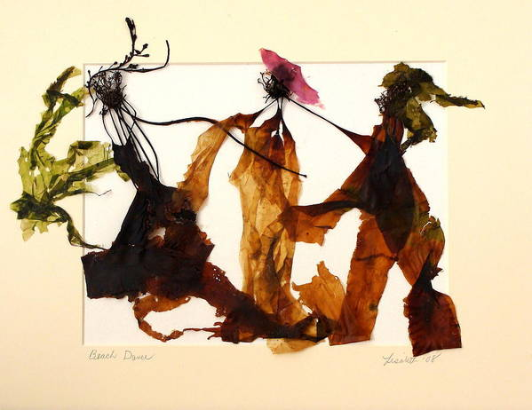Feet Art Print featuring the mixed media Beach Dance by Lisabeth Billingsley