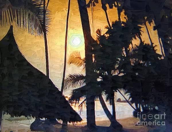 Beach Art Print featuring the painting Beach In Accra by Deborah Selib-Haig DMacq