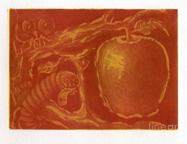 Apple Art Print featuring the digital art before Eve by Iglika Milcheva-Godfrey