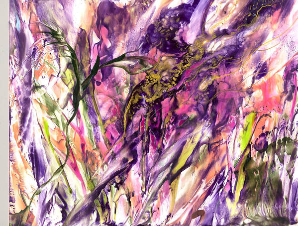 Art Print featuring the painting Beings Unseen by Heather Hennick