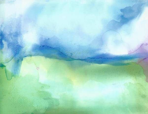 Landscaping Art Print featuring the painting Big Sky Country by Karen Preston