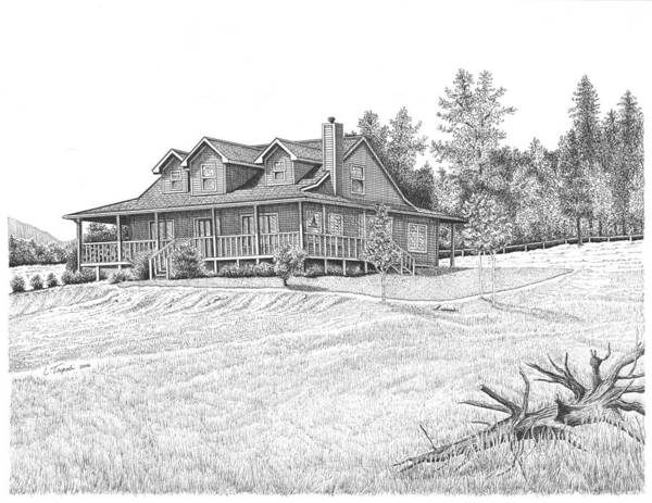 Home Art Print featuring the drawing Bigness House by Lawrence Tripoli