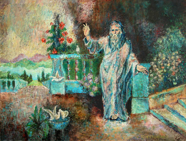 Blessing Art Print featuring the painting Blessing by Vladislav Tchevtchenko