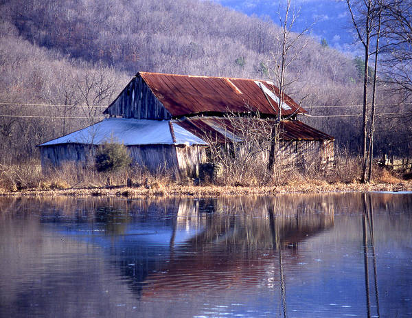 Art Print featuring the photograph Boxely Barn Reflection by Curtis J Neeley Jr