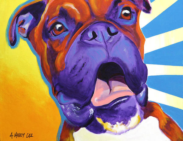 Boxer Art Print featuring the painting Boxer - Chance by Alicia VanNoy Call